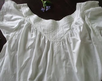 Chemise that was worn the night the cows got out of the barn ~ a few holes are testament...Esme was a salt of the earth farmer's wife