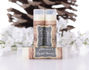 30 Lip Balms and Labels - Personalized Chapstick Favors - Wedding Lip Balm Favors with Labels