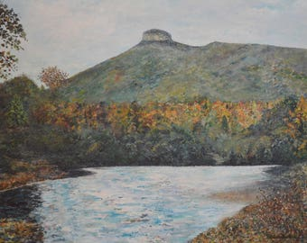 Original Acrylic Artwork: Pilot Mountain
