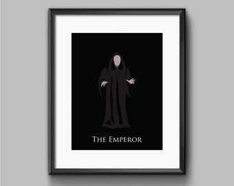 Star Wars Return of the Jedi - The Emperor - Emperor Palpatine Art Print - poster, empire, imperial, sith, dark side