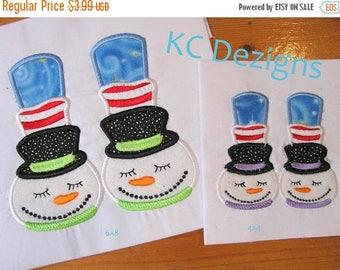 ON SALE Snowman Feet Machine Applique Embroidery Design - 4x4, 5x7 & 6x8