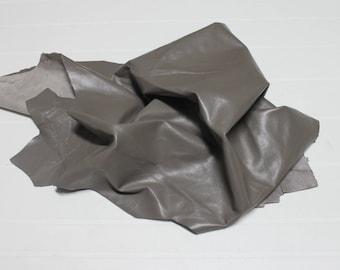 Italian Lambskin Lamb leather skin skins hide hides TAUPE 4sqf #A2404
