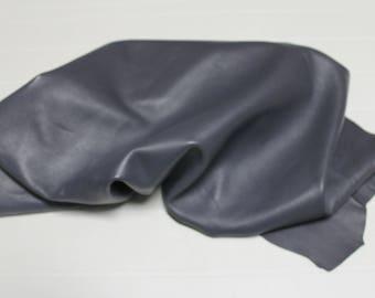 Italian Thick Lambskin Lamb leather skin skins hide hides GREY 8sqf #A2418