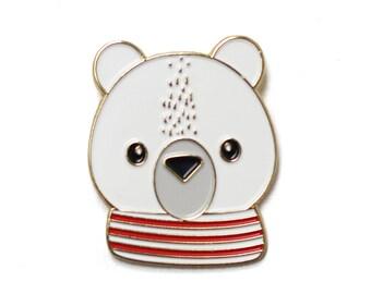 Paco Polar Bear - Enamel Pin, lapel pin, polar bear, arctic animal