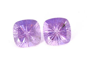 Amethyst Designer Gemstone Carving Faceted Fantasy Cut 19.8x19.8x13.3 mm 57.2 carats Free shipping