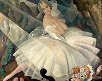 Art Prints, Wall Hangings, Gerda Wegener, Ballerina