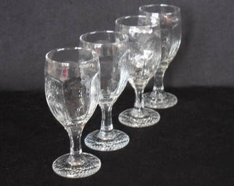 Libbey Clear Chivalry Red Wine Goblets, Banquet Glasses