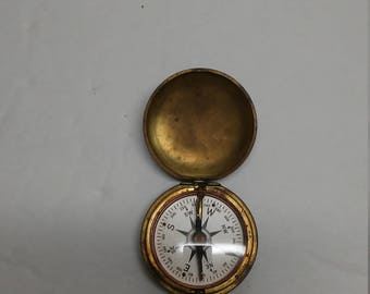 Vintage USCE Compass Brass WWI or WWII Corp of Engineers Military Appears to Work