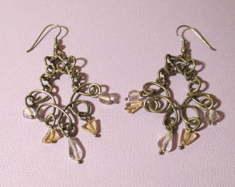 Vintage Silver Chandelier Earrings