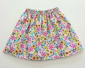 Floral Skirt, Flowers Skirt, Girls Skirt, Girls Party Skirt, Flower Clothing, Floral Outfit, Summer Clothes, Summer Skirt, Birthday Outfit