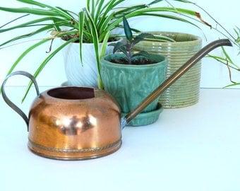 Vintage Copper Watering Can- Indoor Gardening