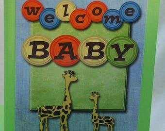 Welcome Baby Card Handmade Digital Card