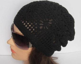Crochet Summer Slouchy Hat, Summer Slouchy Beanie, Women Summer Slouchy Beanie, Women Spring Hat, Boho Style Sun Hat Women Summer Cotton Hat