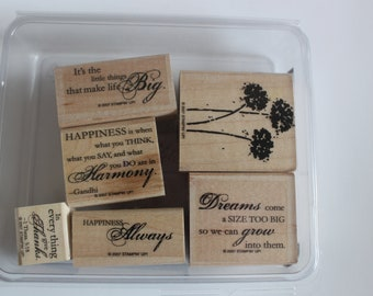 Stampin Up, Happy Harmony Set, set of stamps, card making supply, scrapbook supply, rubber stamps, wood mounted stamps