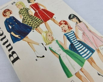 Vintage 1950s / 60s Sewing Pattern, Girls Dress, Butterick 3022