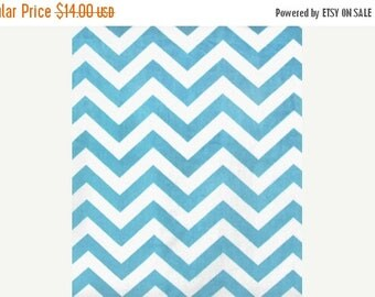 ON SALE Chevron Minky, Turquiose Minky, 1 Yard Fabric, 02199