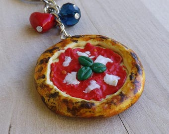 Key Chain Pizza Daisy created by hand