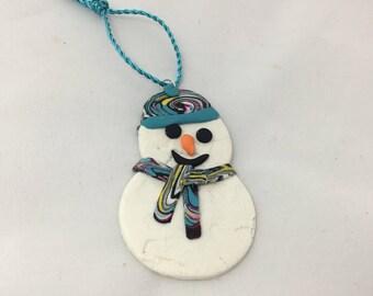 Snowman gift tag/ Christmas decoration