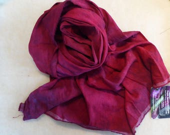 Hope Jacare Creative Textiles Hand dyed Hobra Raw Silk fabric approx 114 x 85 cm - RSF49