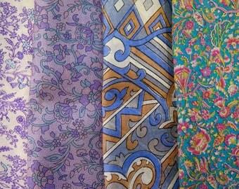 Fat Quarters, Silk Fabric, Sari Silk, FQ 184