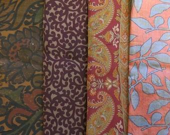 Fat Quarters, Silk Fabric, Sari Silk, FQ 180