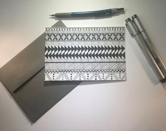 Read Between the Lines- Black and White Stationery, Blank Flat Cards, Any Occasion, Stationery Set