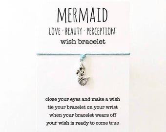 wish bracelet, mermaid bracelet, beach anklet, party favour, friendship bracelet, beach jewelry, mermaid jewelry, bridesmaid gift