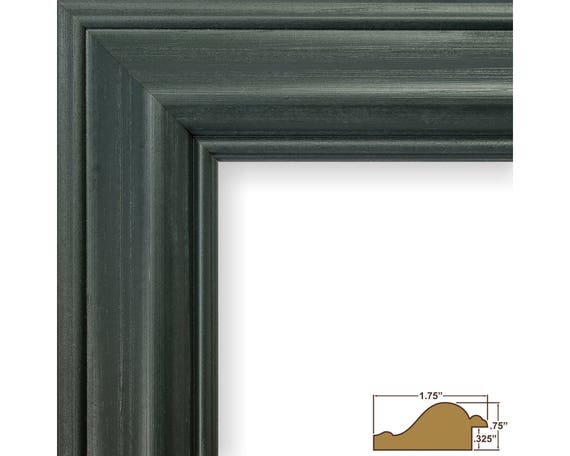 Craig Frames, 17x22 Inch Green Picture Frame, American Classic 1.75 ...