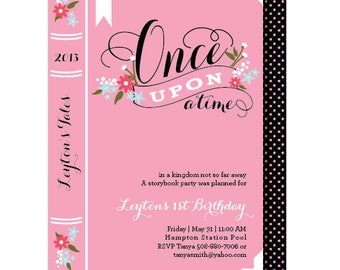 RESERVED FOR JANE - Book Birthday Invitations