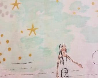 Mermaid Magic in Mist fabric by Michael Miller