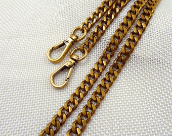 1Piece 6mm wide Antique Gold Color Purse chain, handles Bag Chain - (T414)