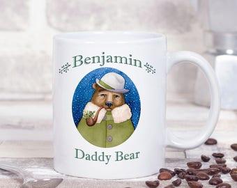 Personalised Christmas Bear Mug - Daddy Bear Mug - Festive Winter Mug - Gifts For Dads - Gifts For Christmas