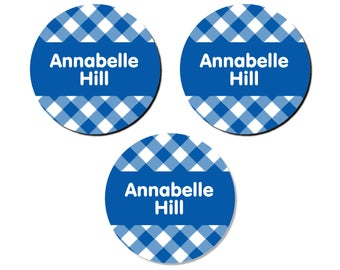 Iron-On Labels (2 Sizes), Gingham