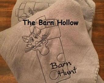 Barn Hunt fleece throw