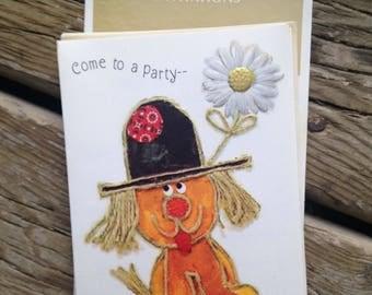 nos vintage hallmark dog doggie puppy party invitations set of 8