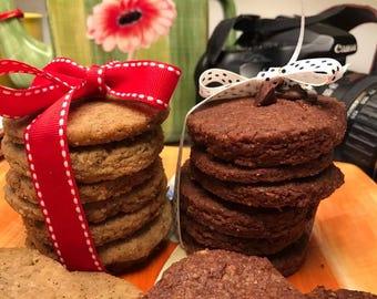 Vegan chocolate earl grey cookies 10 pieces.