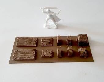 Wooden Tables Sheet - D&D dnd Pathfinder Dungeon 28mm scale rpg Warhammer terrain scenery 40k wargames