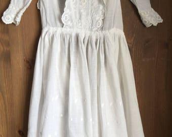 """Vintage cotton long dress chest 20"""""""