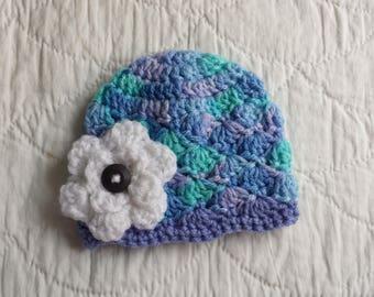 Baby Beanie, Baby Hat, Crochet hat, Newborn, Infant, Photo Prop, Baby Gift, Baby Girl, Prop