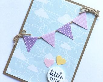 Little One Baby Shower Card **READY TO SHIP**