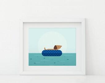 Darby + Dot™ - Floating  - Art Print