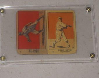 1920  W516 uncut stip card of Ty Cobb & Babe Ruth