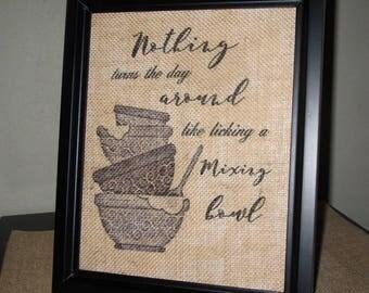 Eric Church Lyrics Country Lyrics Song Three Year Old Kitchen Art Mixing Bowl Printed Burlap Frames Sign Lyrics Sign Country Kitchen Sign