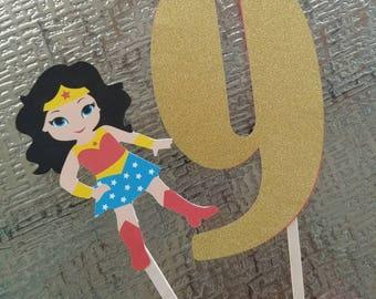 Wonder Woman Cake Topper - Wonder Woman Birthday - Wonder Woman Party Decorations