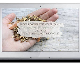 How To Create Herbal Tea Blends Using A Tea Blending Triangle - Mini-Course Video & Transcript - Herbalism - Herbal Remedies