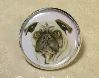 Pug Pin, Fawn Pug Brooch, Pug Lapel Pin, Pug Jewelry, Pug Gifts, Gift with Pug, Jewelry with Pug, Pug Mom Gifts, Pug Dad Gifts