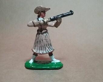 Annie Oakley Sharpshooter Wild West Show pewter figurine 54-60mm