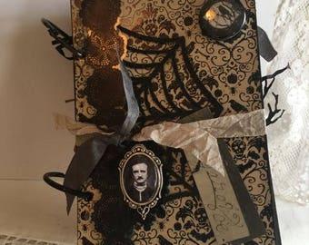 Edgar Allan Poe~~~  Poe Extravaganza  Handcrafted Altered Book ~~~~~~  2017 Limited Edition~~~