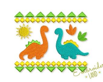 Dinosaur Ornate Machine Embroidery Design DE053