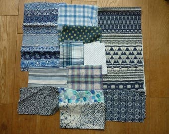 set of fabrics for patchwork 147 coupons